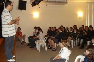 Palestra para alunos da Escola St. Nicholas em São Paulo